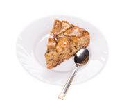 Apple cake close up. Royalty Free Stock Image