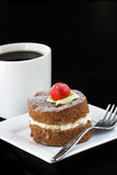 Apple cake with coffee Stock Photography