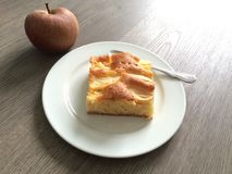 Apple cake. Every apple can used, some varieties like boskoop are better for the Royalty Free Stock Images