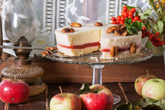 Apple cake with fresh apples Stock Photos