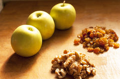 Apple cake ingredients Stock Images