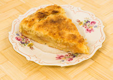 Apple cake with lemon shortcrust pastry Stock Image
