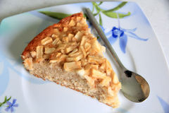 Apple Cake. Apple pie, traditional French recipe Royalty Free Stock Photo