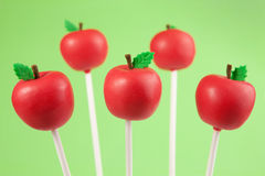Apple cake pops stock images