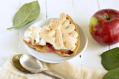 Apple cake with red currant, meringue Stock Photos