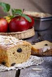 Apple cake. On the wooden table Stock Image