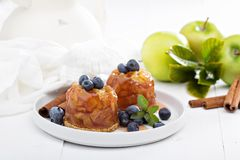 Apple cakes with blueberries Stock Image