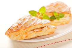 Apple cakes on plate Royalty Free Stock Photos