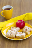 Apple cakes Stock Images