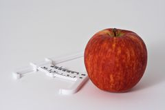 Apple and Caliper 2 Royalty Free Stock Photos