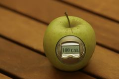 Apple calorie meter Royalty Free Stock Image