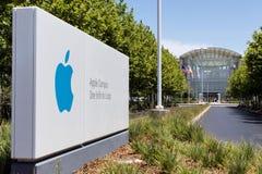 Apple-Campus Één Oneindige Lijn Royalty-vrije Stock Afbeelding