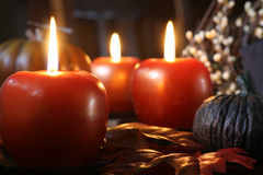 Apple candles Royalty Free Stock Photo