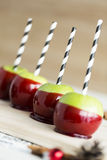 Apple candy,row of apple candies Royalty Free Stock Photo