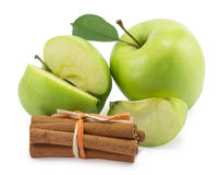 Apple, canella Royalty Free Stock Images