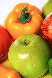 Apple and capsicum Royalty Free Stock Photo