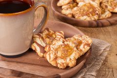 Plate of Apple Caramel Cookies Royalty Free Stock Photos