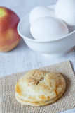 Apple Caramel Hand Pie With Eggs Royalty Free Stock Photo