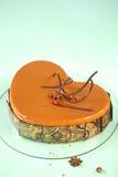 Apple Caramel and Hazelnut Heart Cake Stock Photography