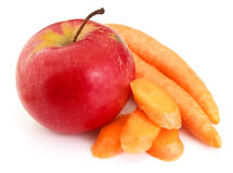 Apple with carrot Royalty Free Stock Photos