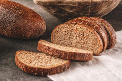 Apple and carrot bread, spelt bread with fresh vegetable and fruit, healthy food, product photography for bakery Stock Photography