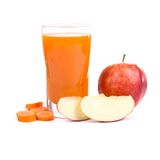 Apple-carrot juice Stock Photography