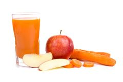 Apple-carrot juice Royalty Free Stock Images