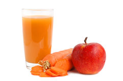 Apple and carrot juice Royalty Free Stock Photo