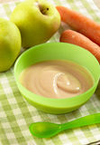 Apple and carrot puree Royalty Free Stock Images
