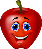 Apple cartoon character Stock Image