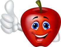 Apple cartoon character Royalty Free Stock Image