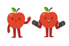 Apple cartoon character Stock Photos