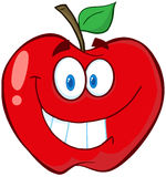 Apple Cartoon Mascot Character Stock Image