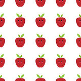 Apple cartoon seamless childlike  pattern. Design Stock Photo