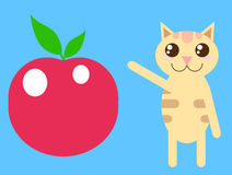Apple cat Stock Photos