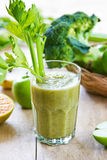 Apple with Celery and Broccoli smoothie Stock Photography