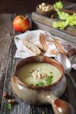 Apple celery cream soup Royalty Free Stock Photo
