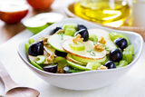 Apple with Celery, Grape and Walnut salad Royalty Free Stock Photo