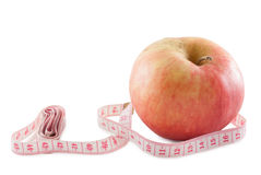 Apple and centimeter Royalty Free Stock Images