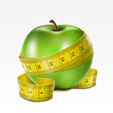Apple with centimeter Royalty Free Stock Image