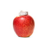 Apple with centimeter Royalty Free Stock Photo