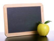 Apple and chalkboard Stock Photo