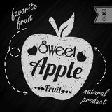 Apple on chalkboard Royalty Free Stock Photography