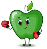 Apple Character Boxer Stock Image