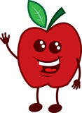 Apple Character Waving Royalty Free Stock Images
