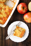 Apple charlotte pie Stock Photo