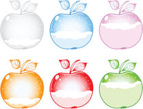 Apple chart. Different color of apple chart Stock Photos