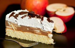 Apple and cheese cake Stock Image