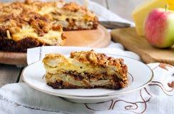 Apple and cheese tart Stock Photo