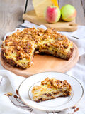 Apple and cheese tart Stock Image